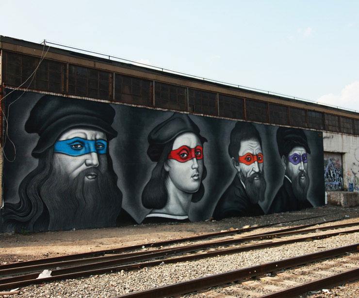 brooklyn street art owen dippie jaime rojo 5 Teenage Mutant Ninja Renaissance Turtles