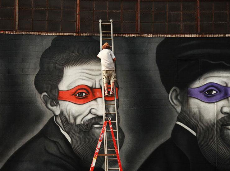 brooklyn street art owen dippie jaime rojo Teenage Mutant Ninja Renaissance Turtles