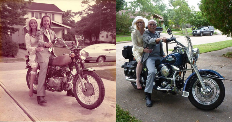 Couple-Celebrates-their-40th-by-Recreating-Photos-from-their-Wedding-Day-(7)