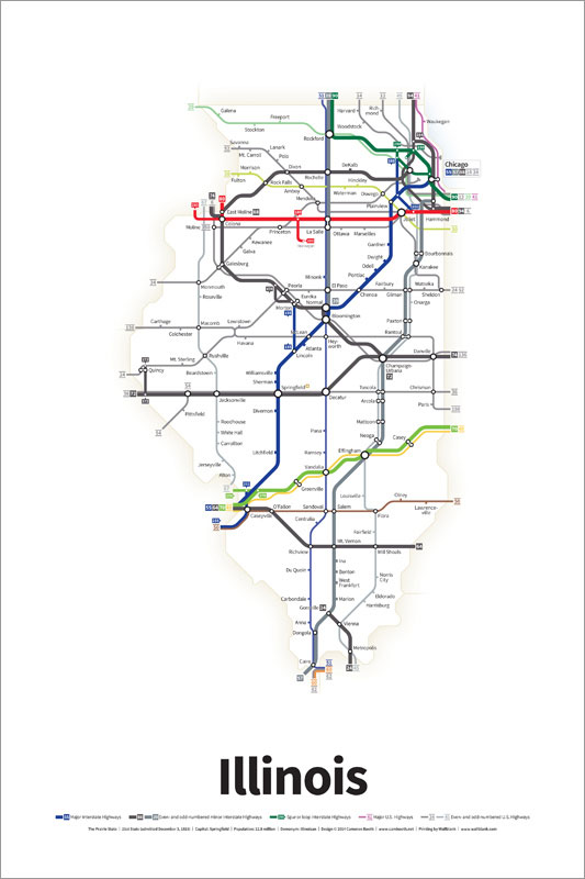 Every US Highway Drawn in the Style of a Transit Map by cameron booth (1)