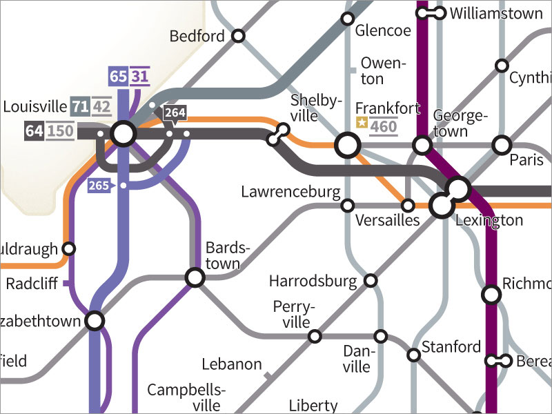 Every US Highway Drawn in the Style of a Transit Map by cameron booth (6)