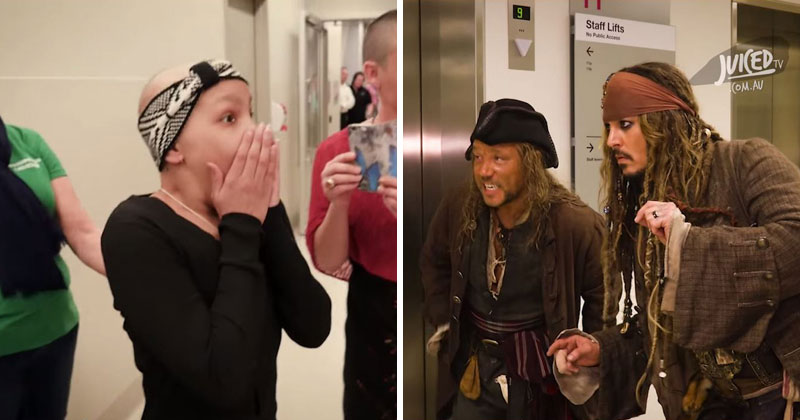 Johnny Depp Makes Surprise Visit to Children's Hospital as Jack Sparrow