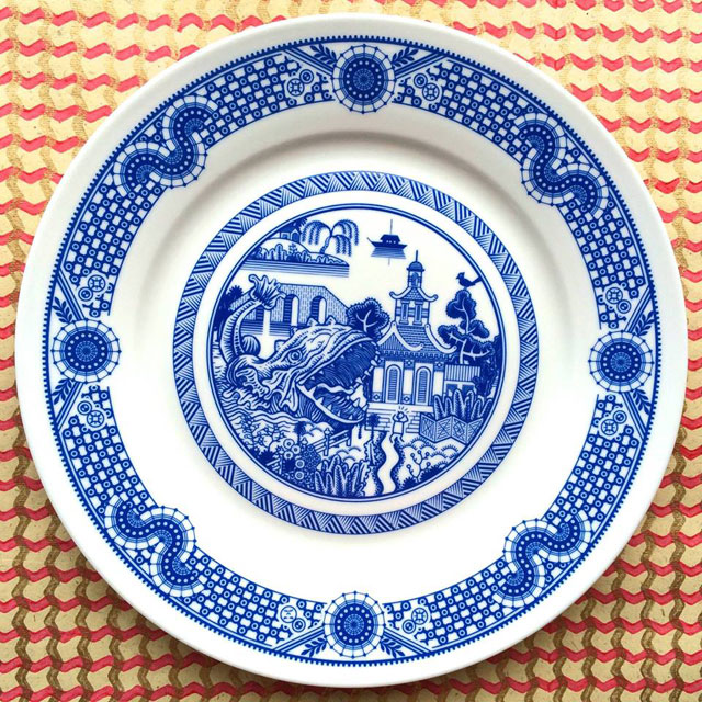 Porcelain Plate designs Show World of Destruction by don moyer calamityware (2)