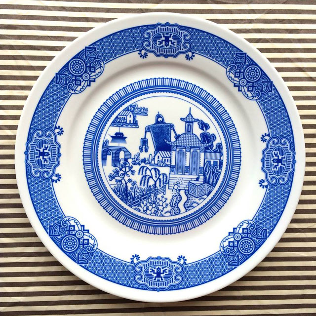 Porcelain Plate designs Show World of Destruction by don moyer calamityware (4)