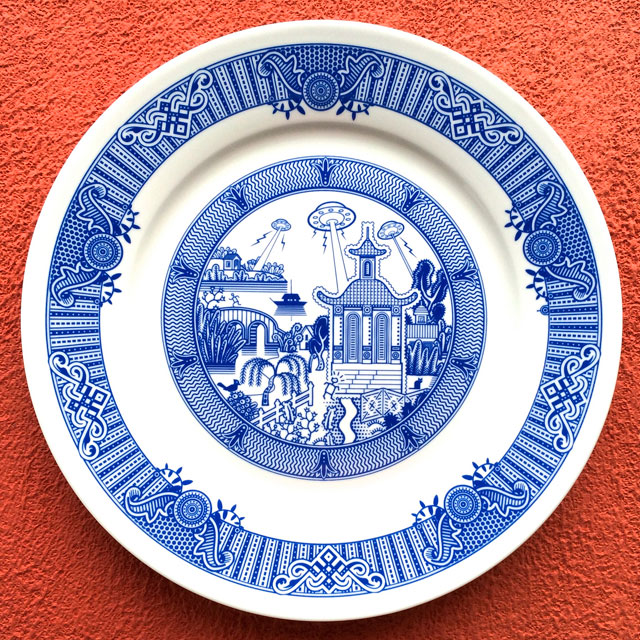 Porcelain Plate designs Show World of Destruction by don moyer calamityware (6)