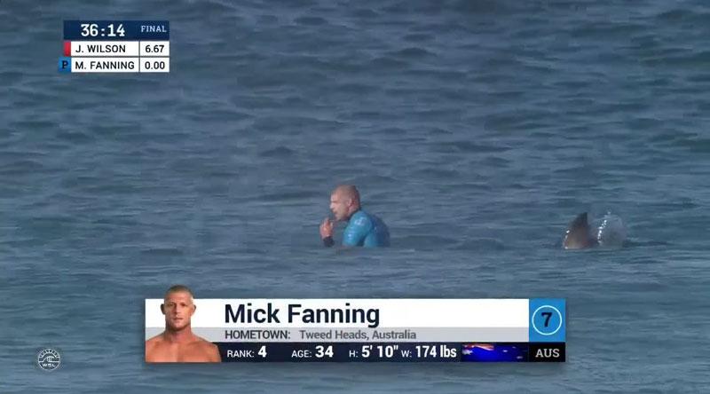 Shark Attacks Mick Fanning at J-Bay Open Finals