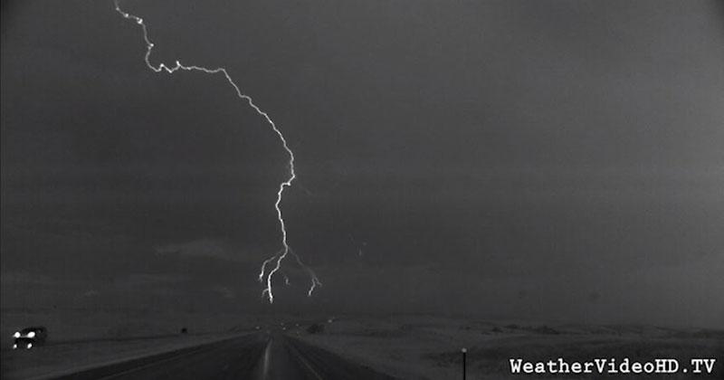A Lightning Storm Captured in Super Slow Motion