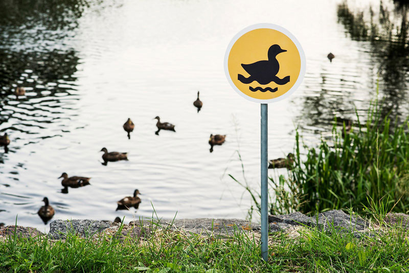 Tiny Road Signs Erected to Remind City Residents Animals Live There Too by clinic 212  (5)