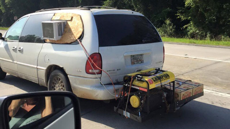 van with air conditioner unit attached The Shirk Report   Volume 326