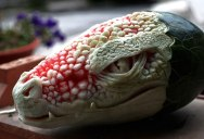 Artist Transforms Watermelon Into Dragon's Head