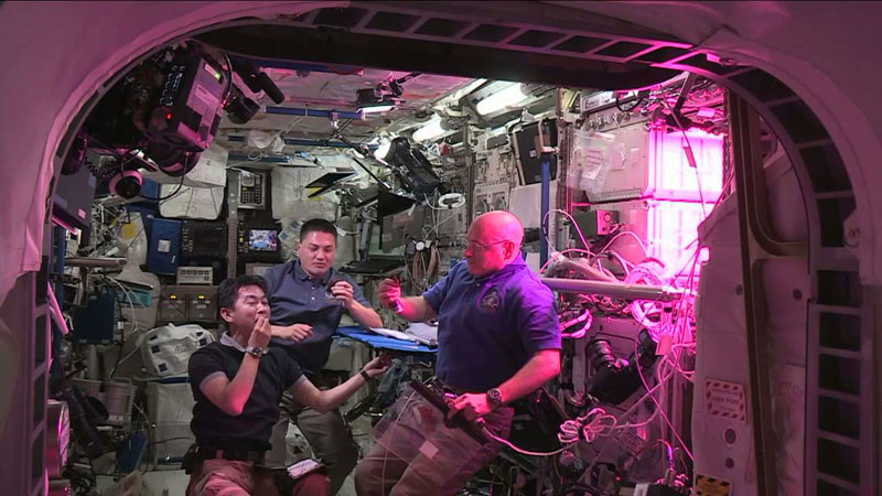 astronauts on iss eat veggies grown in space (4)