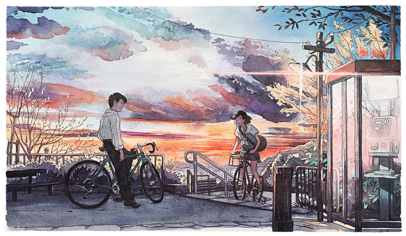 bicycle boy watercolor series by Mateusz Urbanowicz (11)