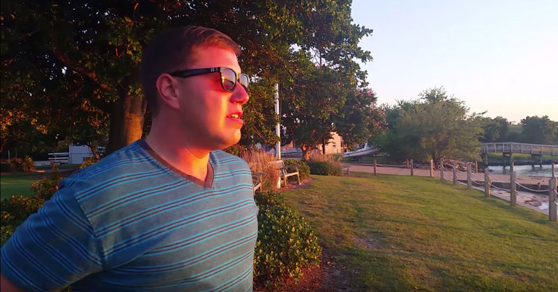 Color Blind Guy Sees Color for First Time at Sunset. Struggles to not Just Stare at the Sun