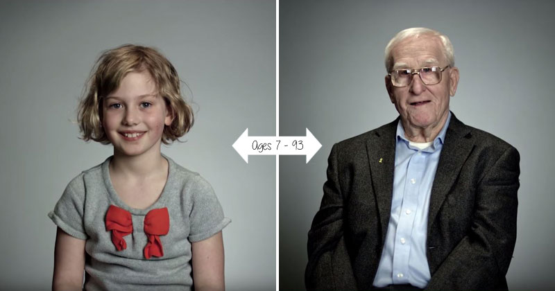Elders Offer Life Advice to their Younger Counterparts (Age 7 – 93)