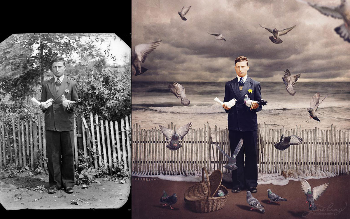 jane long colorizes old photos and adds a surreal twist to them (2)
