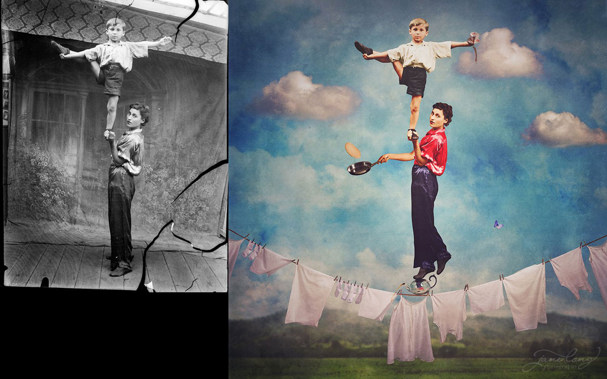 jane long colorizes old photos and adds a surreal twist to them (4)