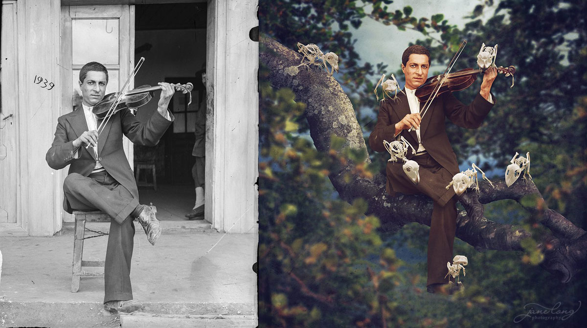 jane long colorizes old photos and adds a surreal twist to them (7)