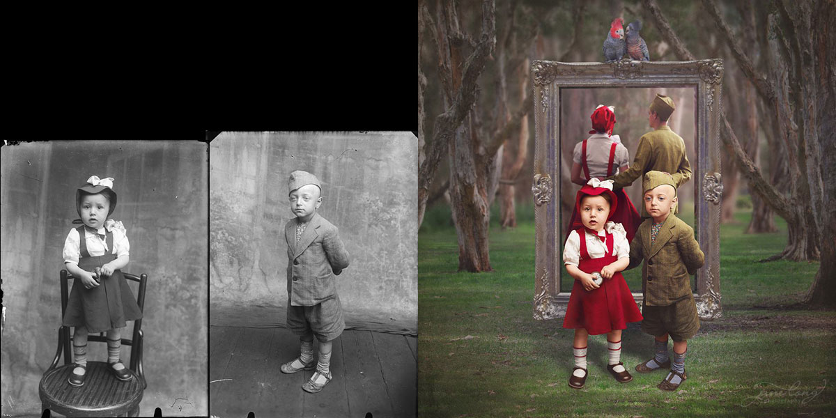 jane long colorizes old photos and adds a surreal twist to them (8)
