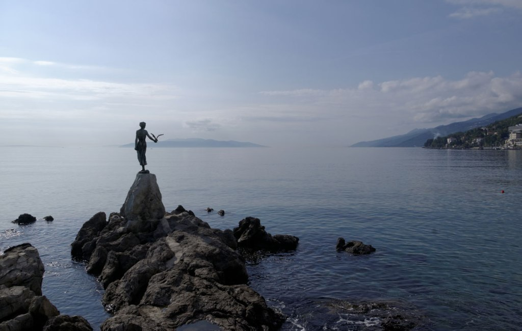 Picture of the Day: Maiden with the Seagull, Opatija, Croatia