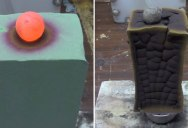 Red Hot Nickel Ball vs Floral Foam