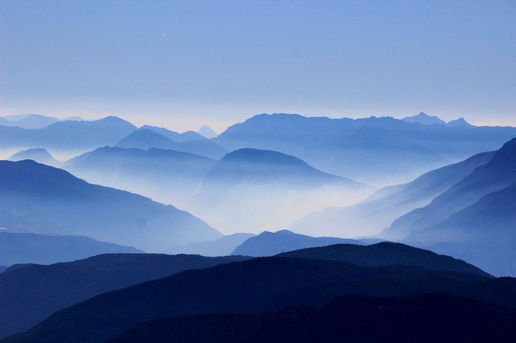 Picture of the Day: Shades of (Mountain) Blue