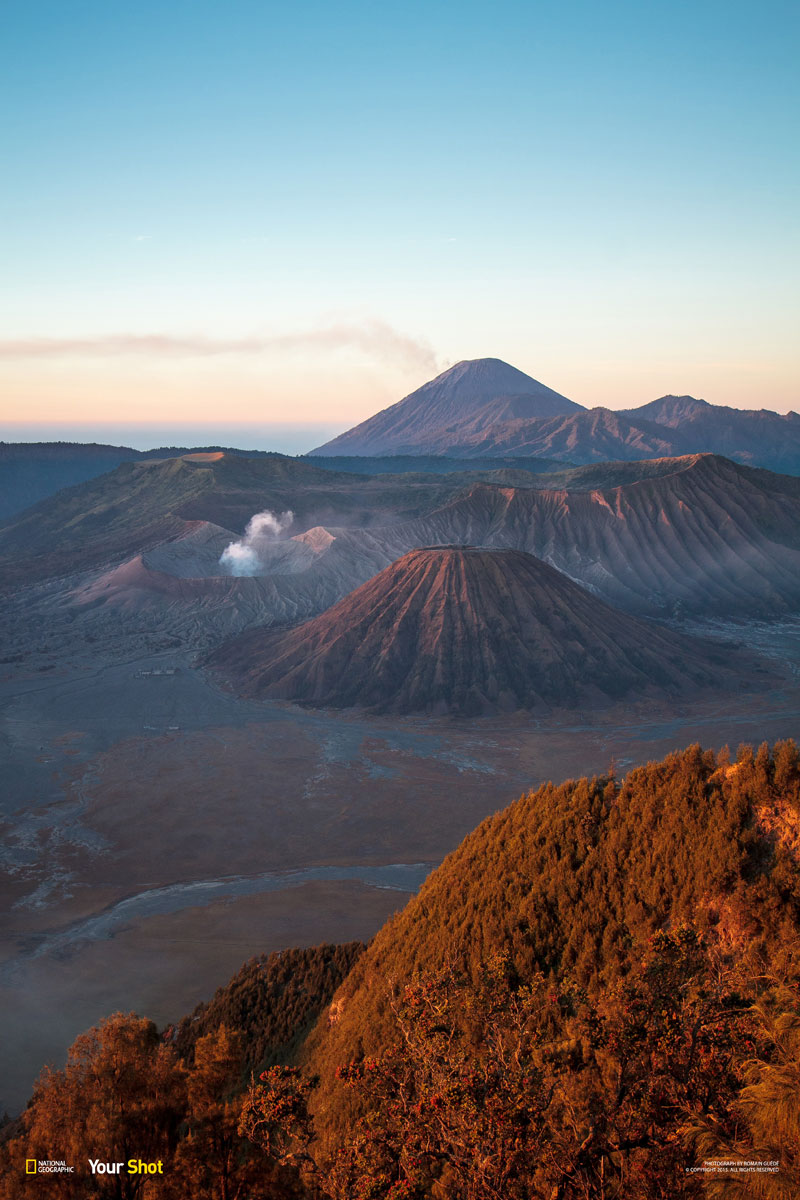 Sunrise on the mount Bromo