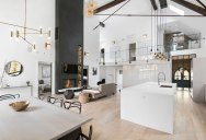 Beautiful Church Conversion with Soaring Fireplace and Climbing Wall