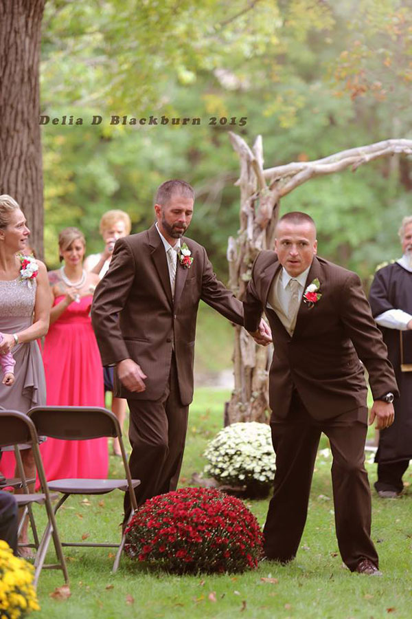Father of the Bride Grabs Her Stepfather So He Can Also Walk Down the Aisle delia blackburn (1)