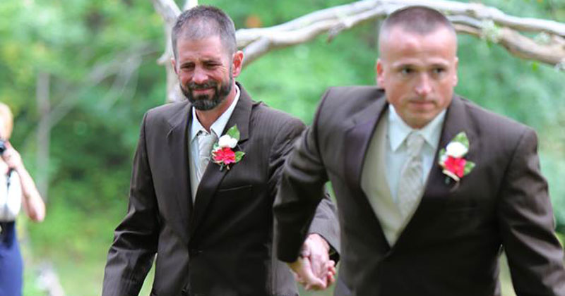 Father of the Bride Grabs Stepfather So He Can Also Walk Down the Aisle