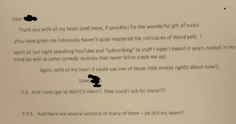 A Senior Learning to Use the Internet Just Wrote This Letter to Her Teacher