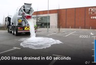 Super Permeable Concrete Drains 4000 Litres of Water in 60 Seconds