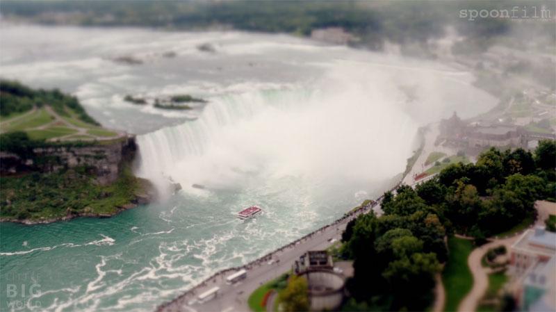 Tilt-Shift Timelapse Turns Niagara Falls Into Tiny Tourist Attraction