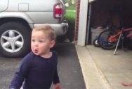 Automatic Garage Door Blows Toddler's Mind