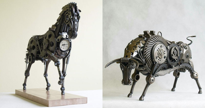 Tomas Vitanovsky Welds Animal Sculptures Out of Scrap Metal