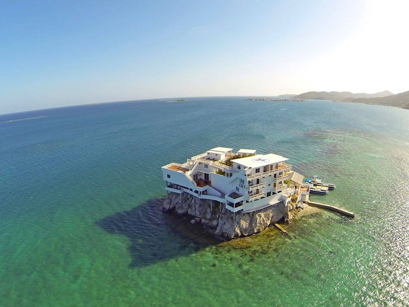 This Diver's Paradise is Built on a Rock and Surrounded by Reef