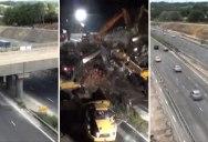 15 Second Timelapse of a 15 Hour Bridge Demolition