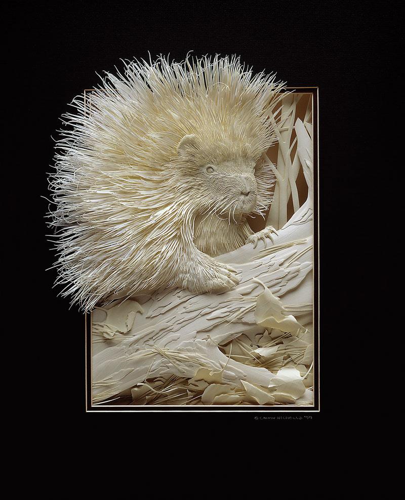 3d paper animal sculptures by calvin nicholls (1)