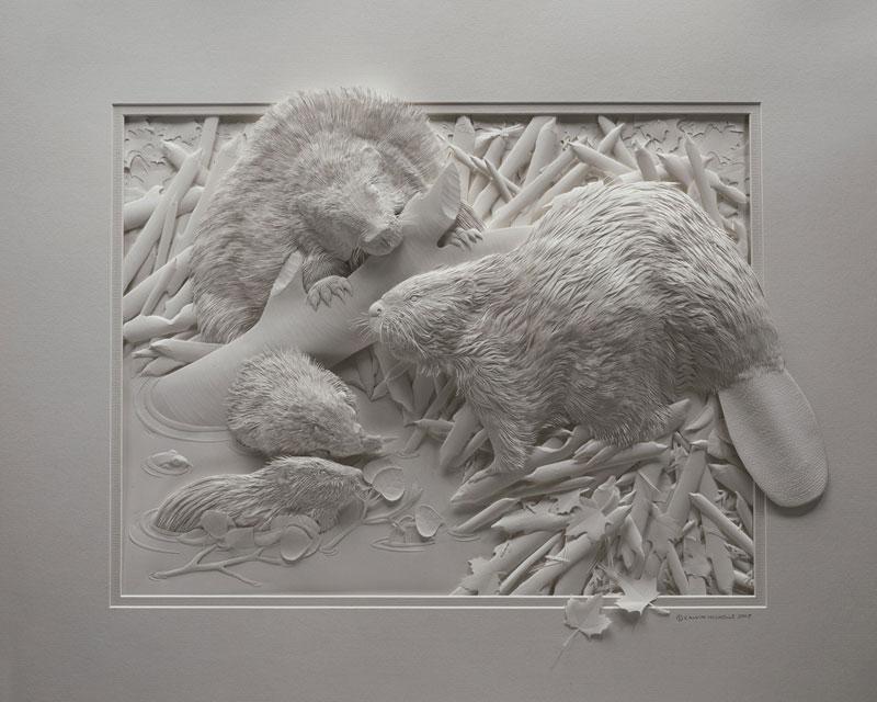 3d paper animal sculptures by calvin nicholls (10)