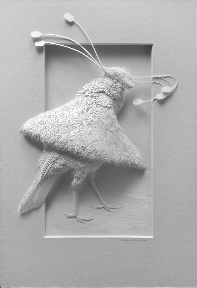 3d paper animal sculptures by calvin nicholls (13)