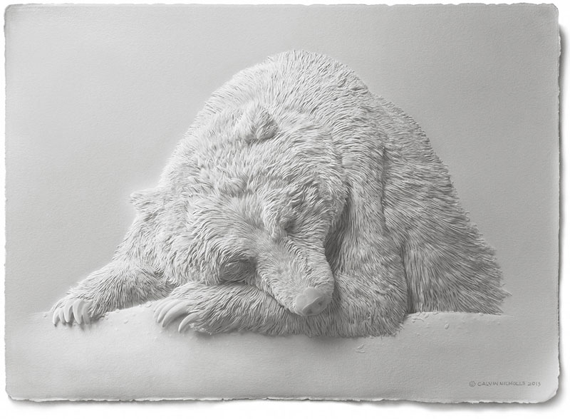 3d paper animal sculptures by calvin nicholls (16)