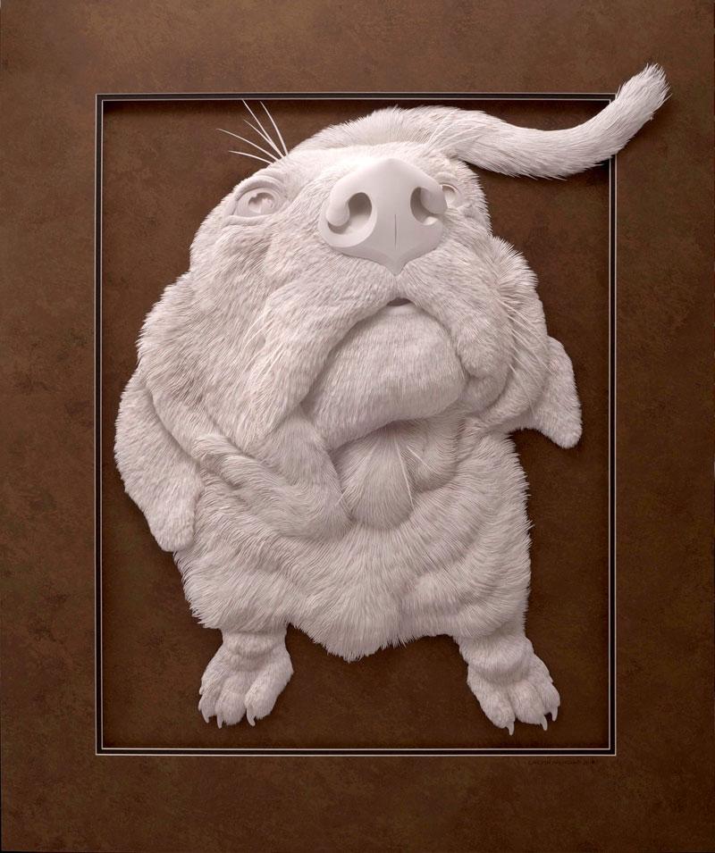 3d paper animal sculptures by calvin nicholls (17)