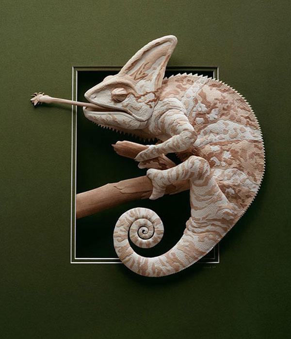 3d paper animal sculptures by calvin nicholls (18)