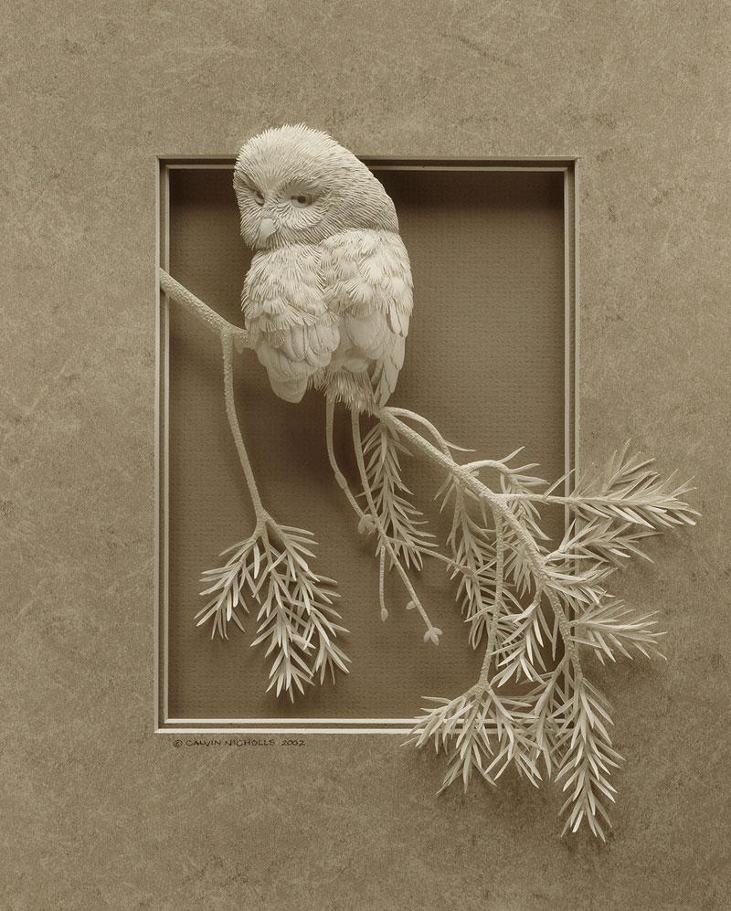 3d paper animal sculptures by calvin nicholls (5)