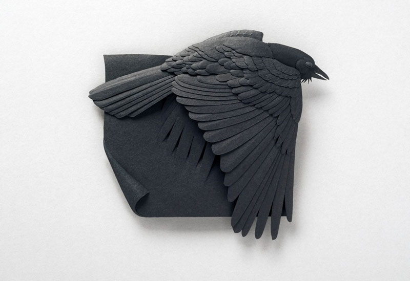 3d paper animal sculptures by calvin nicholls (7)