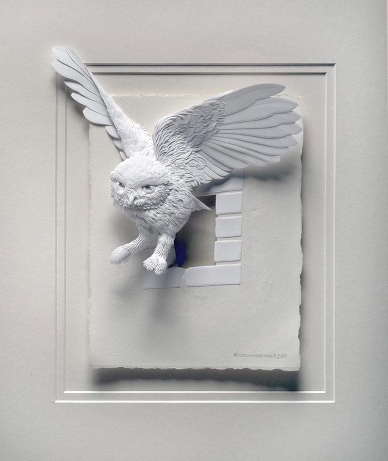 3d paper animal sculptures by calvin nicholls (8)