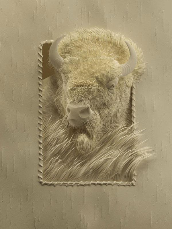 3d paper animal sculptures by calvin nicholls (9)