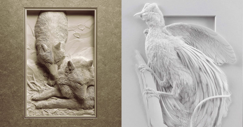 These Amazing Animal Sculptures Were Made from Carefully Cut Layers of Paper