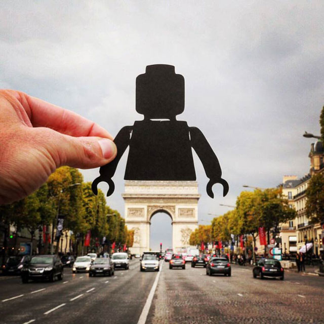 Rich McCor adds paper cutouts to his travel photos paperboyo instagram (1)