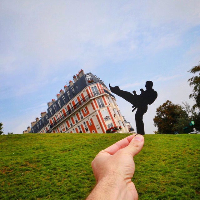 Rich McCor adds paper cutouts to his travel photos paperboyo instagram (12)
