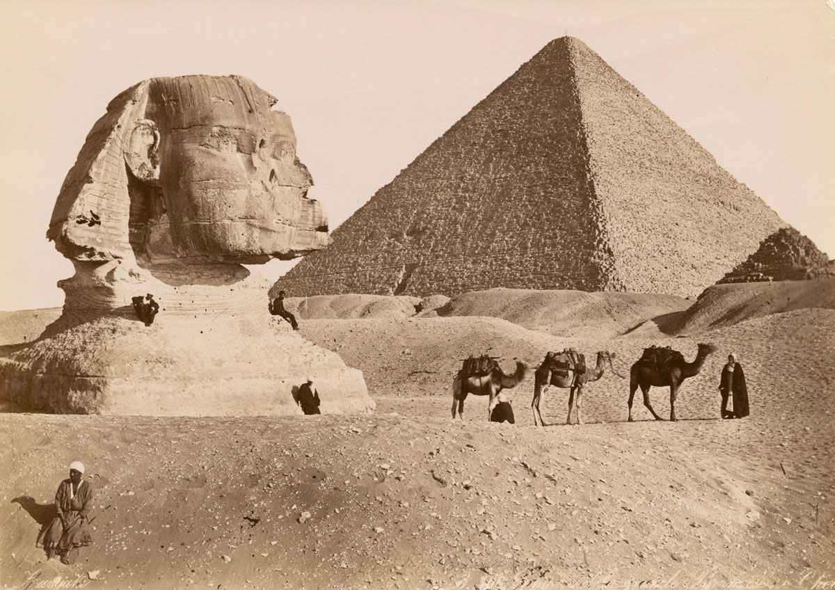 sphinx pyramids 1900s vintage old school Picture of the Day: Khufu and the Great Sphinx ca. 1860 1929